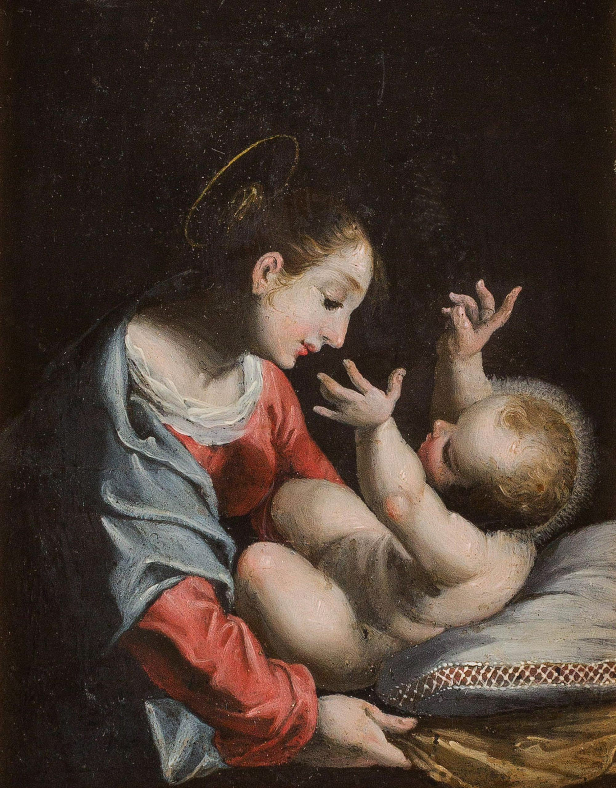 Italian school. Madonna and Child old master picture /painting